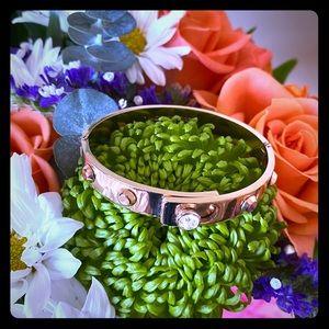 Michael Kors Rose Gold Studded Cuff Bracelet